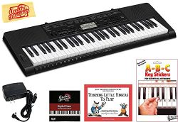 Casio CTK-3500 Portable Keyboard Bundle with Power Supply, Removeable Stickers, Instructional Bo ...