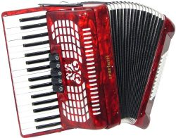 Scarlatti 72 Bass Accordion – Red