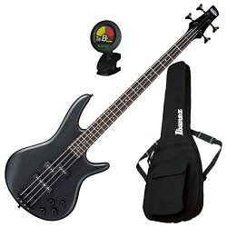 Ibanez GSR200B Weathered Black 4 String Bass Guitar w/ Gig Bag and Tuner