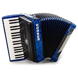 Hohner Bravo Piano Accordion, 72 Bass, Blue