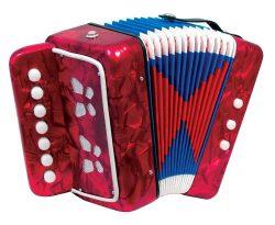 Scarlatti Child's 7 Key Melodeon Accordion – Red