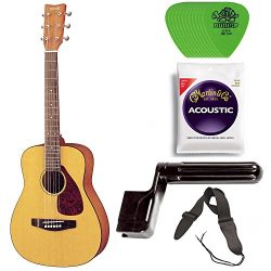 Yamaha JR1 3/4 Size Steel String Acoustic Guitar Bundle with Gig Bag, Strap, Strings, Winder and ...