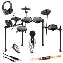 Alesis Nitro Mesh Electronic Drum Kit With a Pair of Drum Sticks + Samson SR350 Headphones + Hos ...