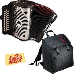 Hohner Panther Diatonic Accordion – Keys F/Bb/Eb Bundle with Gig Bag and Austin Bazaar Pol ...