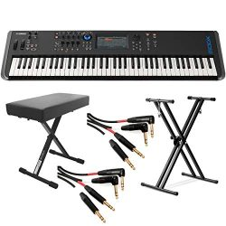 Yamaha MODX8 88-Key Weighted Action Synthesizer (With Stand, Bench & Mogami Gold Key Balance ...