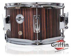 Firecracker Snare Drum by Griffin|Soprano Popcorn 10″ x 6″ Poplar Wood Shell & B ...