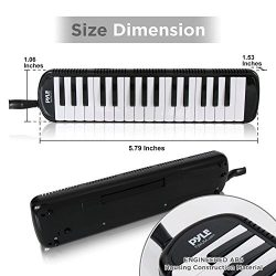 Pyle PMLD12BK.5 Melodica – Keyboard Harmonica Instrument