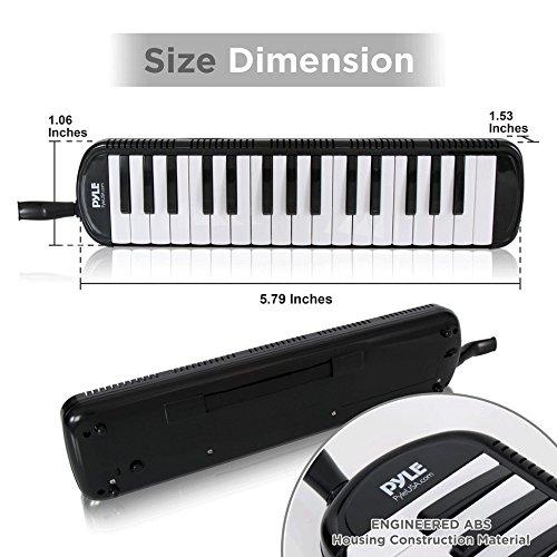 Pyle PMLD12BK.5 Melodica – Keyboard Harmonica Instrument