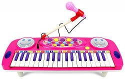 37 Keys Electric Organ Children's Kid's Battery Operated Toy Piano Keyboard Instrume ...