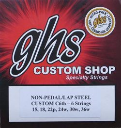"Lap Steel Guitar Strings""GHS C6th- 6″ Gauges 15-36W – 2 Sets"