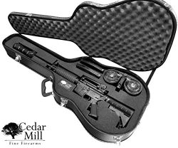 Discreet Concealment Guitar Rifle Case and Diversion Safe – Double Pick Pluck foam securit ...