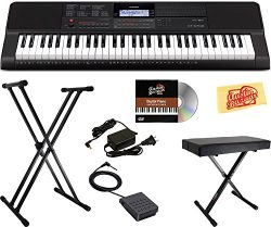 Casio CT-X700 Portable Keyboard Bundle with Stand, Bench, Sustain Pedal, Power Adapter, Austin B ...