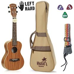 Concert Ukulele Bundle – LEFT HANDED, Deluxe Series by Hola! Music (Model HM-124LFT+), Bun ...