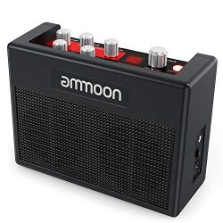 ammoon Guitar Amplifier Portable electric guitar Amp 5 Watt Built-in 80 Drum Rhythms Support Tun ...