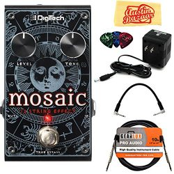 DigiTech Mosaic Polyphonic 12-String Effect Pedal Bundle with Power Supply, Instrument Cable, Pa ...