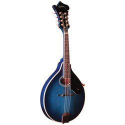 Washburn M1SDL Mandolin in tansparent blue finish