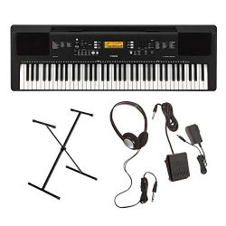 Yamaha PSREW300 76-Key Portable Keyboard with Yamaha Adjustable X-Style Stand and Yamaha SKB2 Su ...
