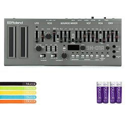 Roland SH-01A Sound Module with Integrated Arpeggiator, Sequencer BUNDLED WITH 4-Pack of AA Batt ...