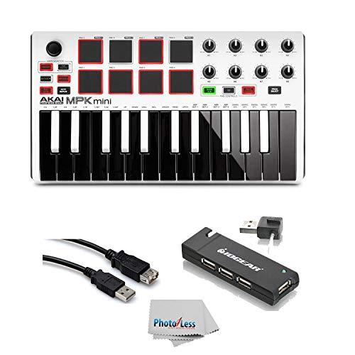 Akai Professional MPK MINI MK2 MKII | 25-Key Ultra-Portable USB MIDI Drum Pad & Keyboard Con ...