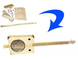 """Tin Pan Alley"" 3-string Paint Can Resonator Box Guitar DIY Kit"
