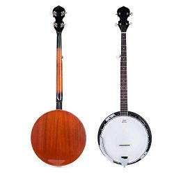 ELENKER Exquisite Professional Wood Metal 5-string Banjo
