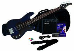 Silvertone LB11 Bass Guitar and Amp Package, Cobalt/Dark Blue