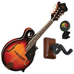 Morgan Monroe Rocky Top RT-FM1 F Style Mandolin with Tuner and Wall Hanger