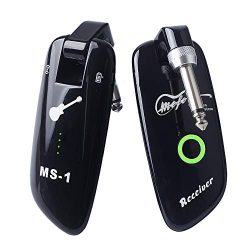 Mefe Rechargeable Wireless Guitar System Guitar Bass Wireless Digital Transmitter Receiver 100 C ...