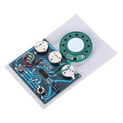 Asixx Sound Recording Module, 30s Recordable Music Sound Voice Module Chip 0.5W with Button Batt ...