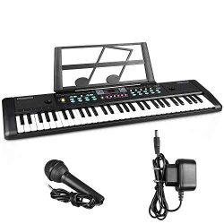 Digital Music Piano Keyboard 61 Key,ZJTL 61-key Electronic Piano,Portable Electronic Musical Ins ...