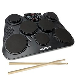 Alesis CompactKit 7 – Ultra-Portable 7-Pad Electronic Table-top Drum Kit with Velocity-Sensitive ...