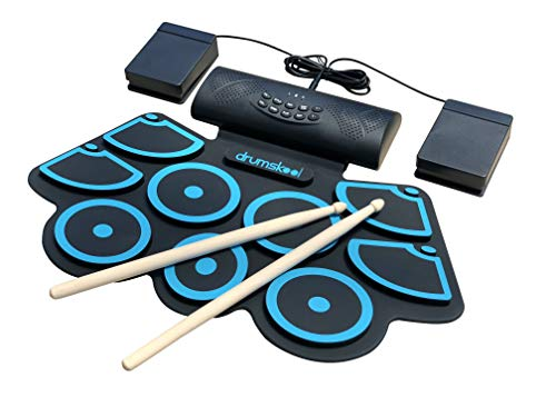 drumskool electronic drum set midi electric drum kit connect your phone to play along with. Black Bedroom Furniture Sets. Home Design Ideas