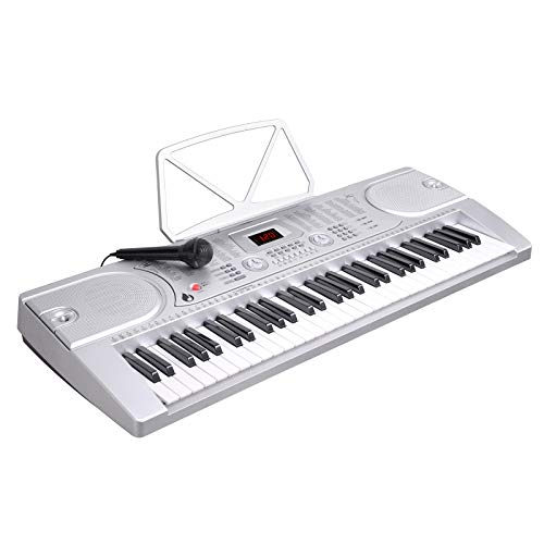LAGRIMA 61 key Portable Electric Piano Keyboard, Include LED Display, USB/Headphones/MP3 Input,  ...