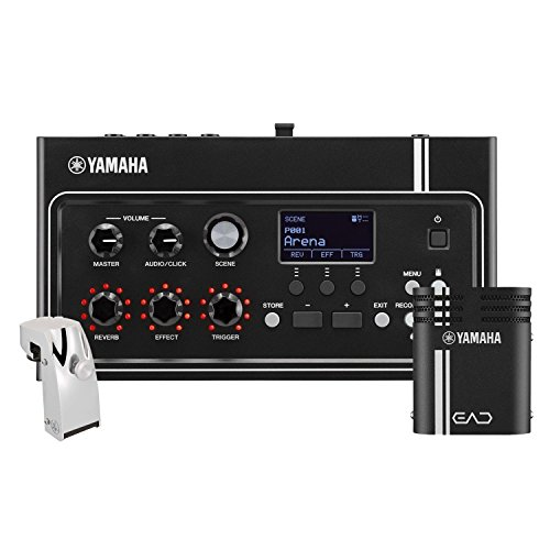 Yamaha EAD10 Electronic Acoustic Drum Module with Acoustic Drum Microphone System Interconnect C ...