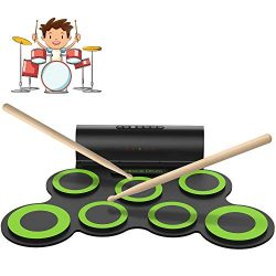 ORASANT Electric Drum Set, Roll Up Electronic Drum Set for Kids, Rechargeable Drum Pad Starter P ...