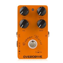 Caline USA Digital Overdrive Guitar Effect Pedal with 4 Control Knobs (CP-18)