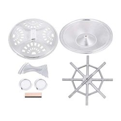 Dobro Resonator Guitar Replacement Parts Set Soundhole Screens Tailpiece Spider Bridge Iron/Alum ...
