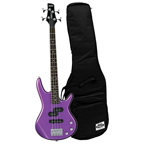Ibanez GIO GSRM20MPL Metallic Purple 28.6″ Scale 4 String Bass Guitar w/ Gig Bag