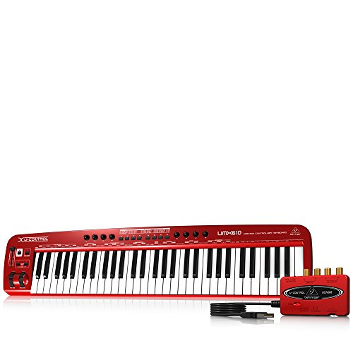 Behringer U-Control UMX610 61-Key USB/MIDI Controller Keyboard with Separate USB/Audio Interface