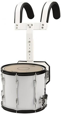 Sound Percussion Labs Marching Snare Drum with Carrier 14 x 12 White