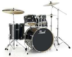Pearl Export Lacquer EXL725S/C248 5-Piece New Fusion Drum Set with Hardware, Black Smoke