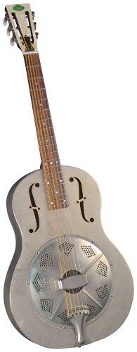 Regal RC-43 Metal Body Triolian Guitar – Antiqued Nickel-Plated Steel
