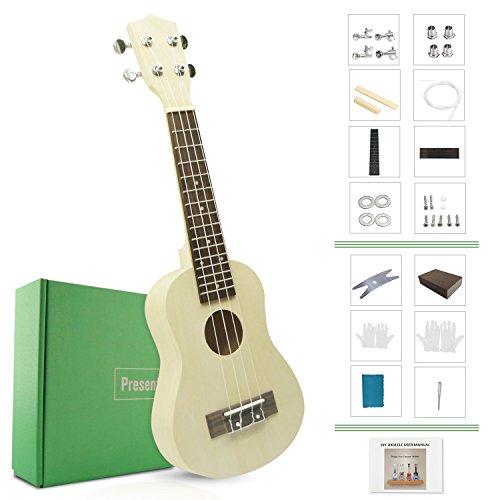 DIY Ukulele Kit Make Your Own Ukulele Soprano Hawaii Ukulele Kit with Installation Tools Screwdr ...