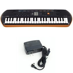 Casio SA76 44 Keys 100 Tones Keyboard bundle with Casio Power Supply