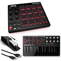 Akai Professional MPD218 | MIDI Drum Pad Controller with Akai MPK Mini MKII | 25-Key Portable US ...