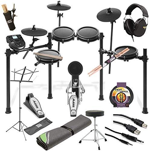 Alesis Nitro Mesh Electronic Drum Kit + Professional Headphones +