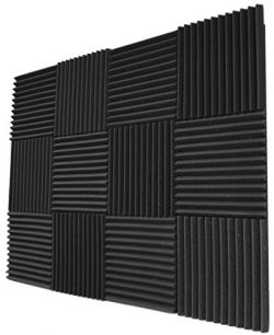 12 Pack- Acoustic Panels Studio Foam Wedges 1″ X 12″ X 12″
