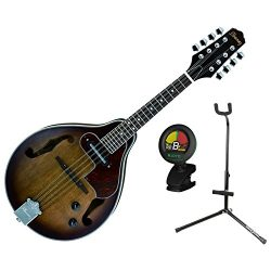Ibanez M510EOVS A Style Acoustic Electric Mandolin Open Pore Vintage Sunburst Finish w/ Stand an ...