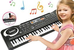 SEMART Piano Keyboard Music Piano Electric Keyboards for kids Musical Instrument USB multi-funct ...