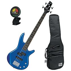 Ibanez GIO GSRM20SLB Mikro Starlight Blue 28.6″ Scale 4 String Bass Guitar w/ Gig Bag and  ...